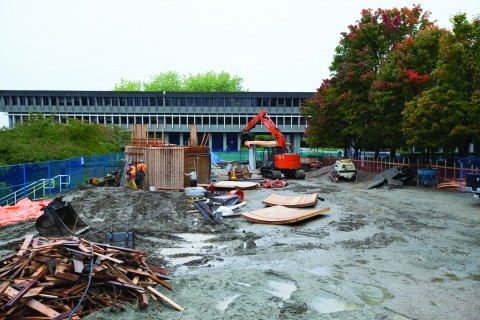 You can follow the site's construction progress on Howard Trottier's blog, Starry Nights @ SFU.