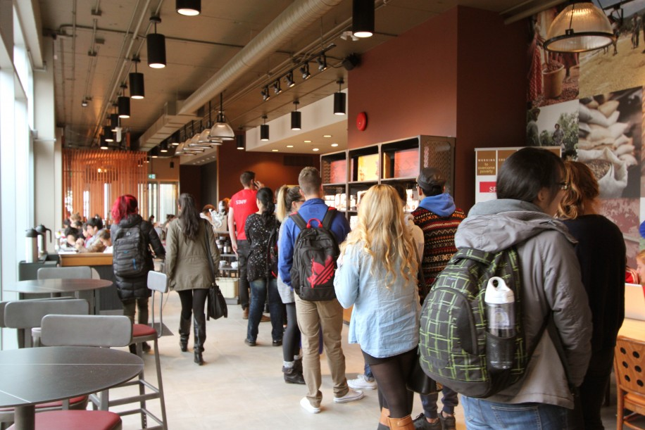 SFU opened the first fair trade Starbucks in Canada in 2013