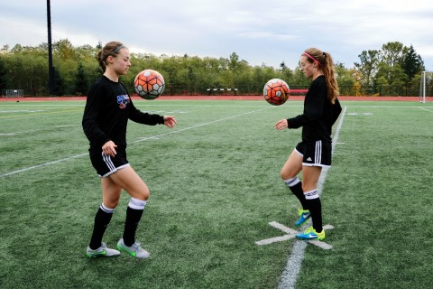 Christina and Allyson have been playing soccer together from an early age.