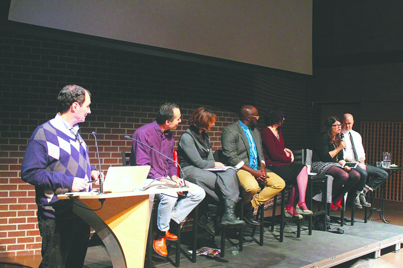 The panel  discussion was held at SFU Woodward's. - Photo by Samaah Jaffer