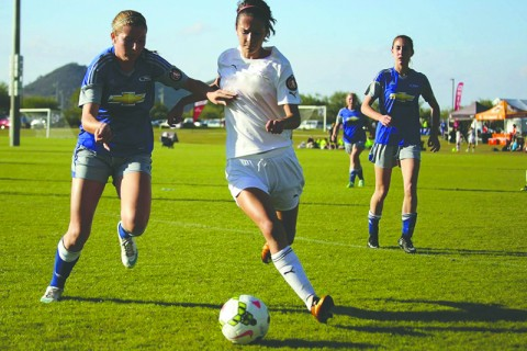Carmen Brown spent the last two seasons playing in the ECNL.