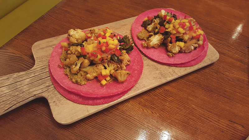 The Verduras tacos keep the vegetarians and vegans from feeling left out with the meat-centric menu.