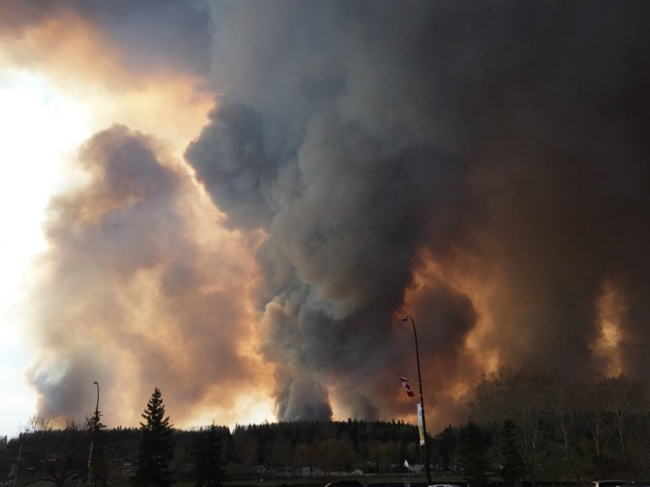This is what Brandon Tidy, SFU student, saw as he was evacuating Fort McMurray
