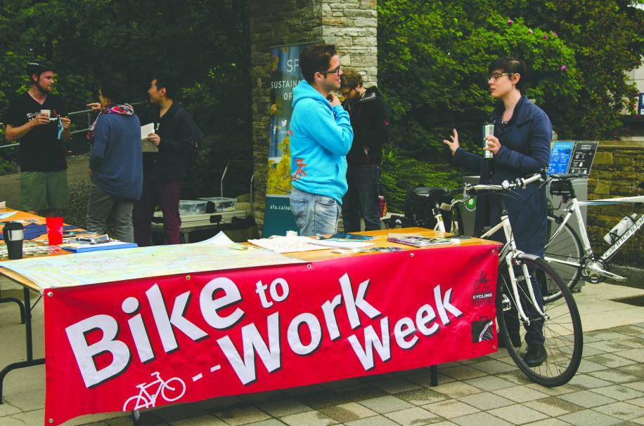 Bike to Work Week was a success for SFU, with over 100 participants riding in