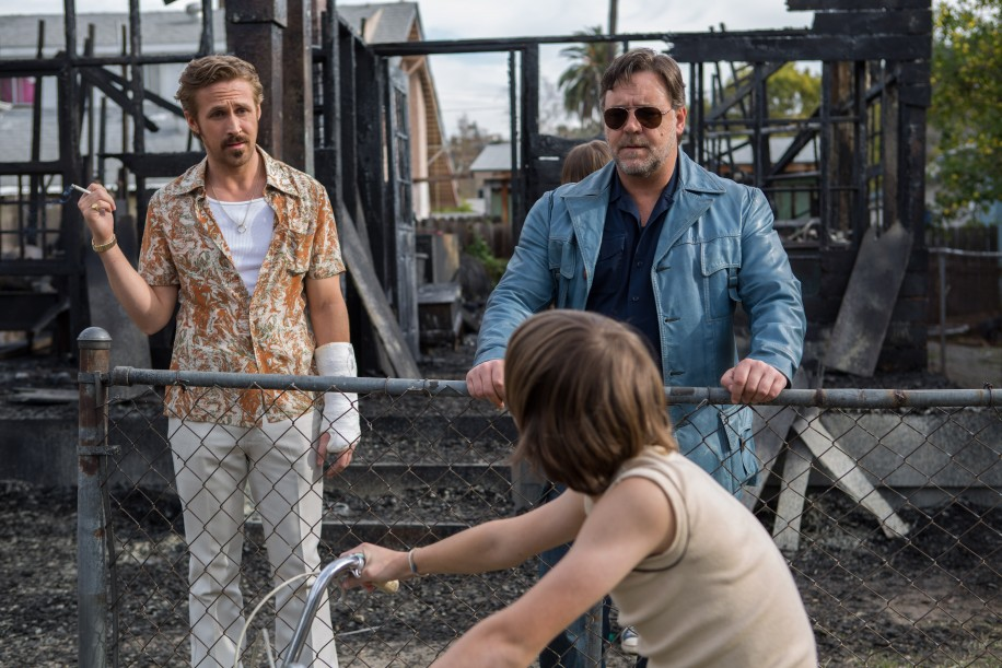 Gosling (left) and Crowe (right) prove their acting abilities despite the nostalgia overload.