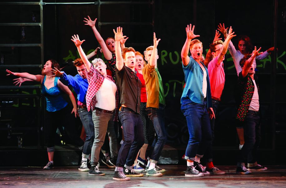 The smaller sized stage wasn't a hindrance for the cast and crew of West Side Story