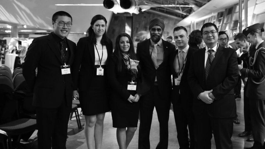 SFU Model NATO members met the defense minister in Ottawa.