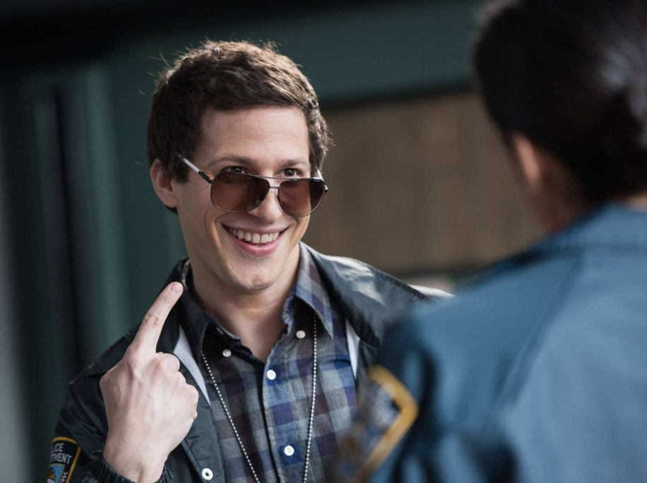 Jake Peralta (Andy Samberg) is the centre of all the antics that happen in the nine-nine.
