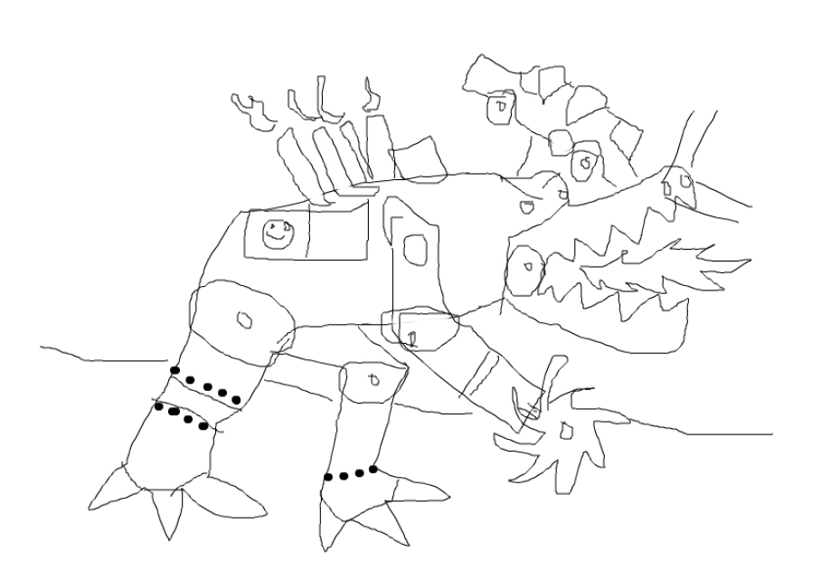 An artist's rendering of the robot (Credit to Andrew Petter.)