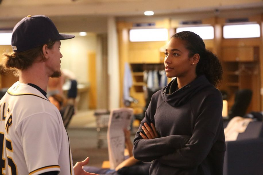 Fox's latest fall TV offerings feature Pitch which is the story of the first female Major League Baseball player Ginny Baker (Kylie Bunbury, pictured left).
