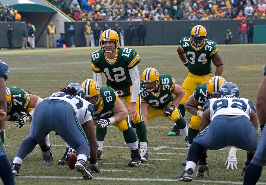 Aaron Rodgers (#12) allegedly criticized his team after a shocking loss to the Colts in week nine.
