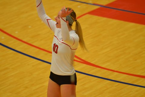Alison McKay finished with 19 digs in her final game in the West Gym.