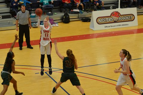 Tayla Jackson (#12) finished the game with 10 points and three rebounds.