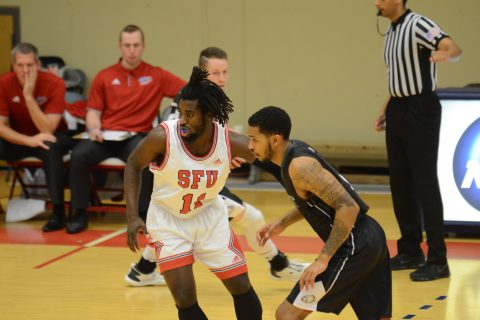 Kedar Wright (#11) is not expected to play this weekend due to injury. Wright led the team in scoring in exhibition play and was expected to carry much of the offensive load this season.