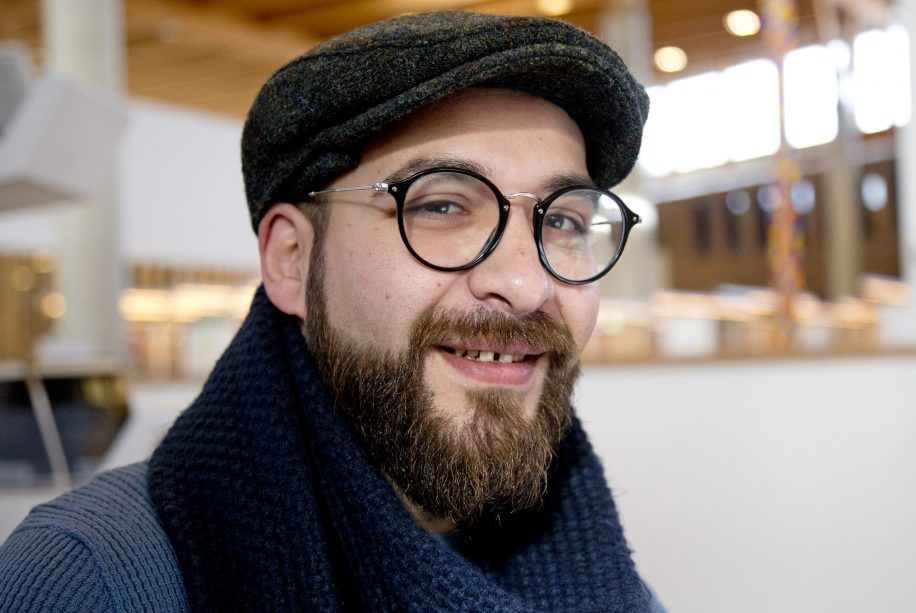 Housan Al-Mosilli (above) is one of the safe, previously persecuted, artists to become a part of the International Cities of Refuge Network (ICORN). Surrey joins the 60 cities that are part of this network.