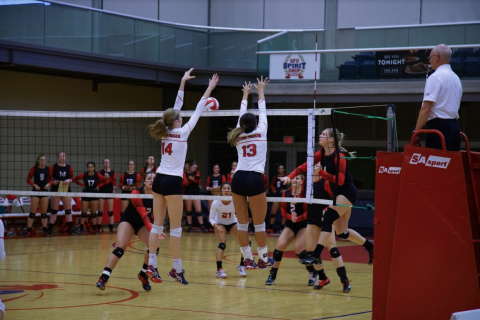 SFU volleyball suffered heartbreak in the opening round of the playoffs.