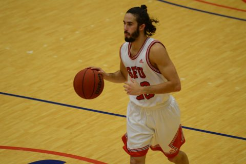Michael Provenzano had 23 points and 7 assists while playing the entire 40 minutes.