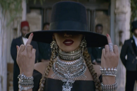 """Formation"" has become an iconic song, and Beyoncé giving the world the finger captures how most people feel about 2016. Bring it on 2017."