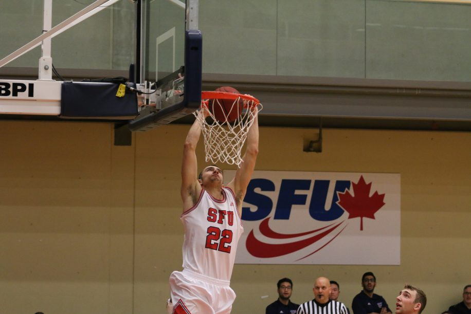 JJ Pankratz had 12 points and four rebounds in 30 minutes of action, including this alley-oop.