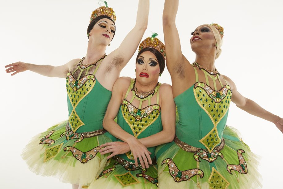 Les Trocks turn the traditional notions of ballet upside down with all male versions of ballet classics.