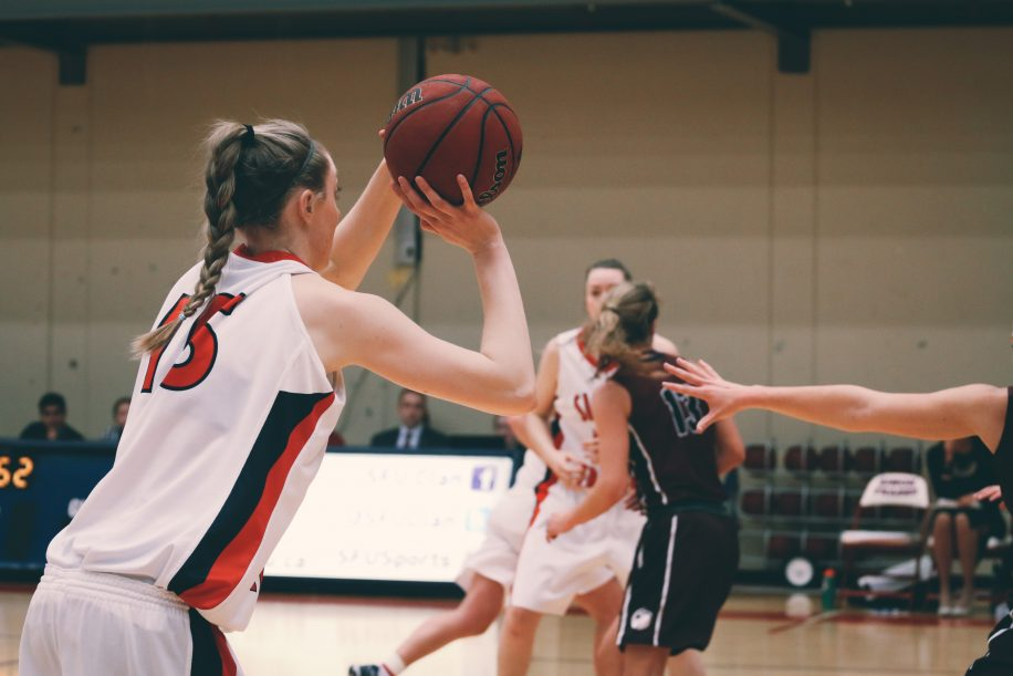 Meg Wilson finished with 14 points, six assists, and six rebounds in SFU's 71-61 win.