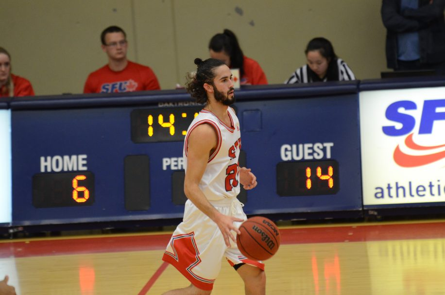 Michael Provenzano was the only SFU player in double digits for scoring, finishing with 13 points.